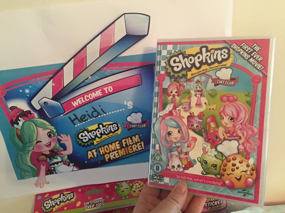 How to host an AWESOME Shopkins Movie Party #ShopkinsChefClub. Shopkins Chef Club Review - Shopkins movie invitations and signs