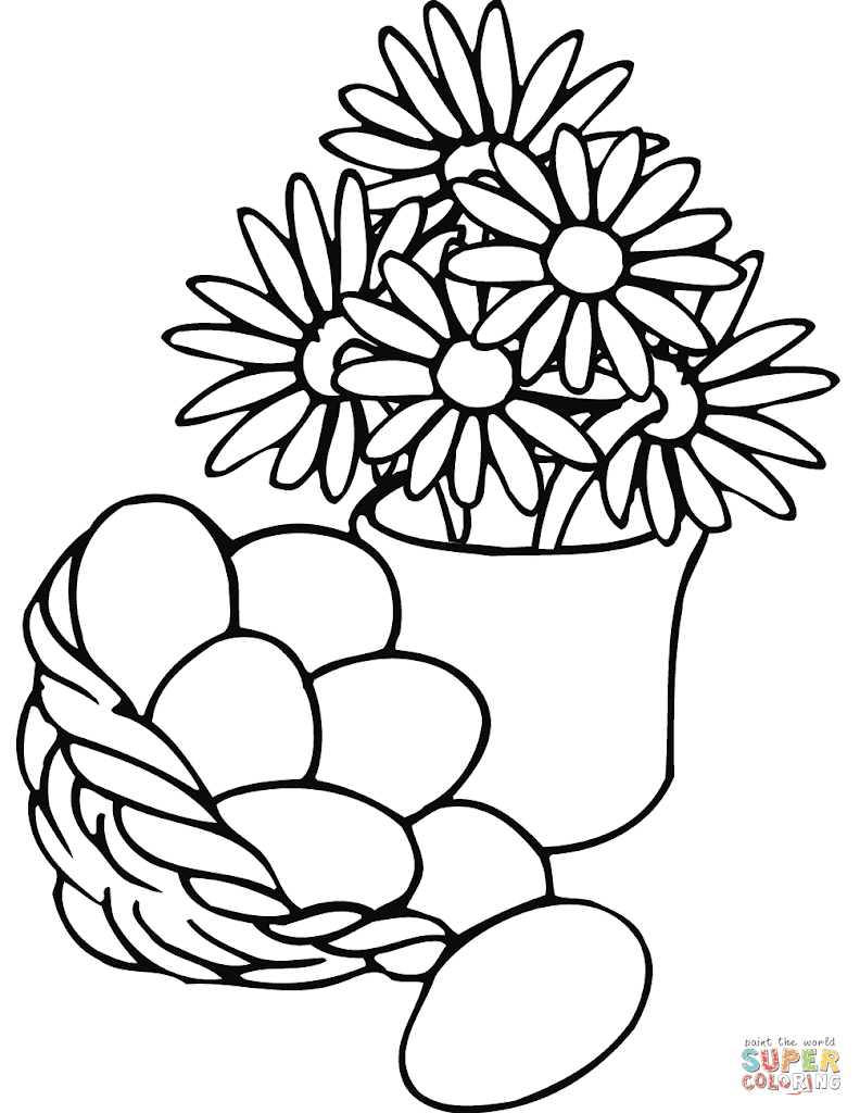 HD Vase Coloring Page Pictures