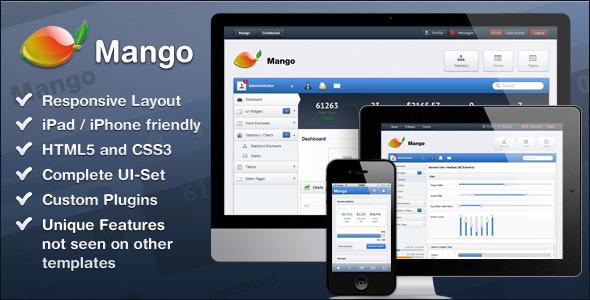 ThemeForest Mango – Slick & Responsive Admin Template ~ Best Free