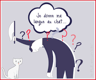 Expression Donner sa langue au chat