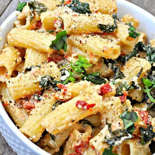 Vegan Tuscan Rigatoni #Vegan #Recipes