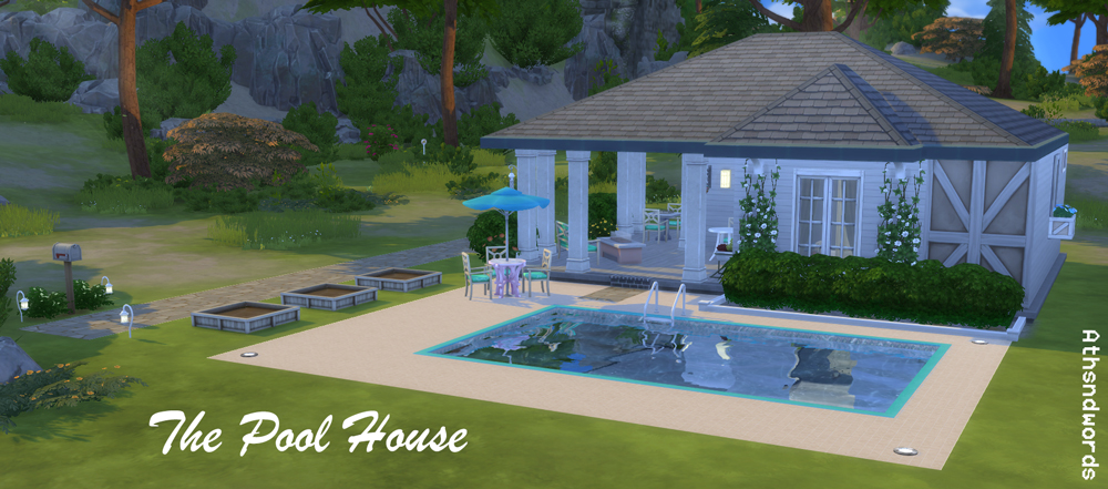 Athsndwords sims 4 designs the pool house for Pool design sims 4