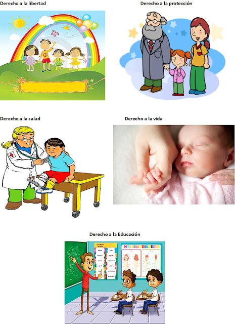 lámina de los derechos del niño, derechos de los niños, 5 derechos del niño, derechos más importantes del niño