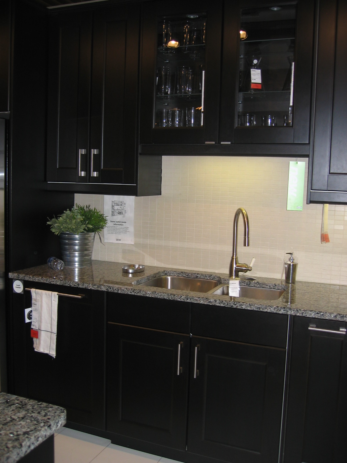 Ramsjo Black Brown Kitchen Cabinets