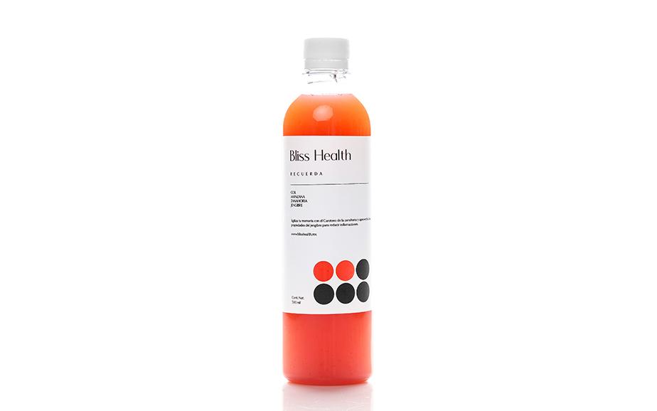 Bliss Health juice packaging