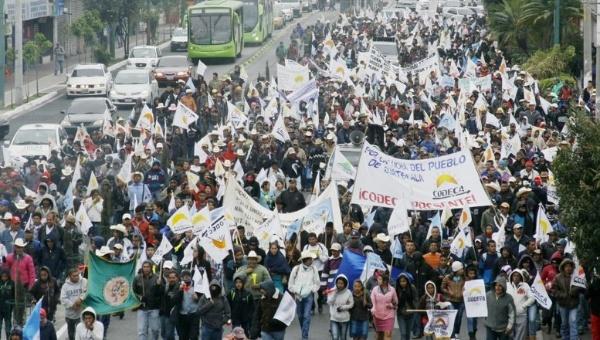 Campesinos en Guatemala marchan contra la corrupción