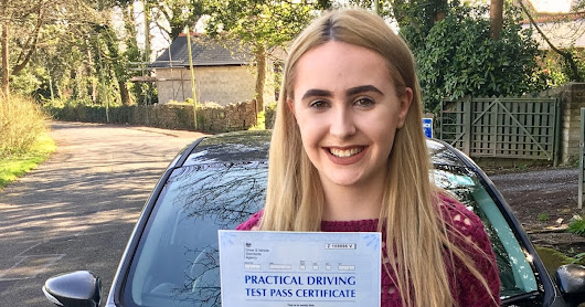 Driving Lessons Bridgend - Cariad Brown Driving Test Pass - Peter Hamilton Driving School