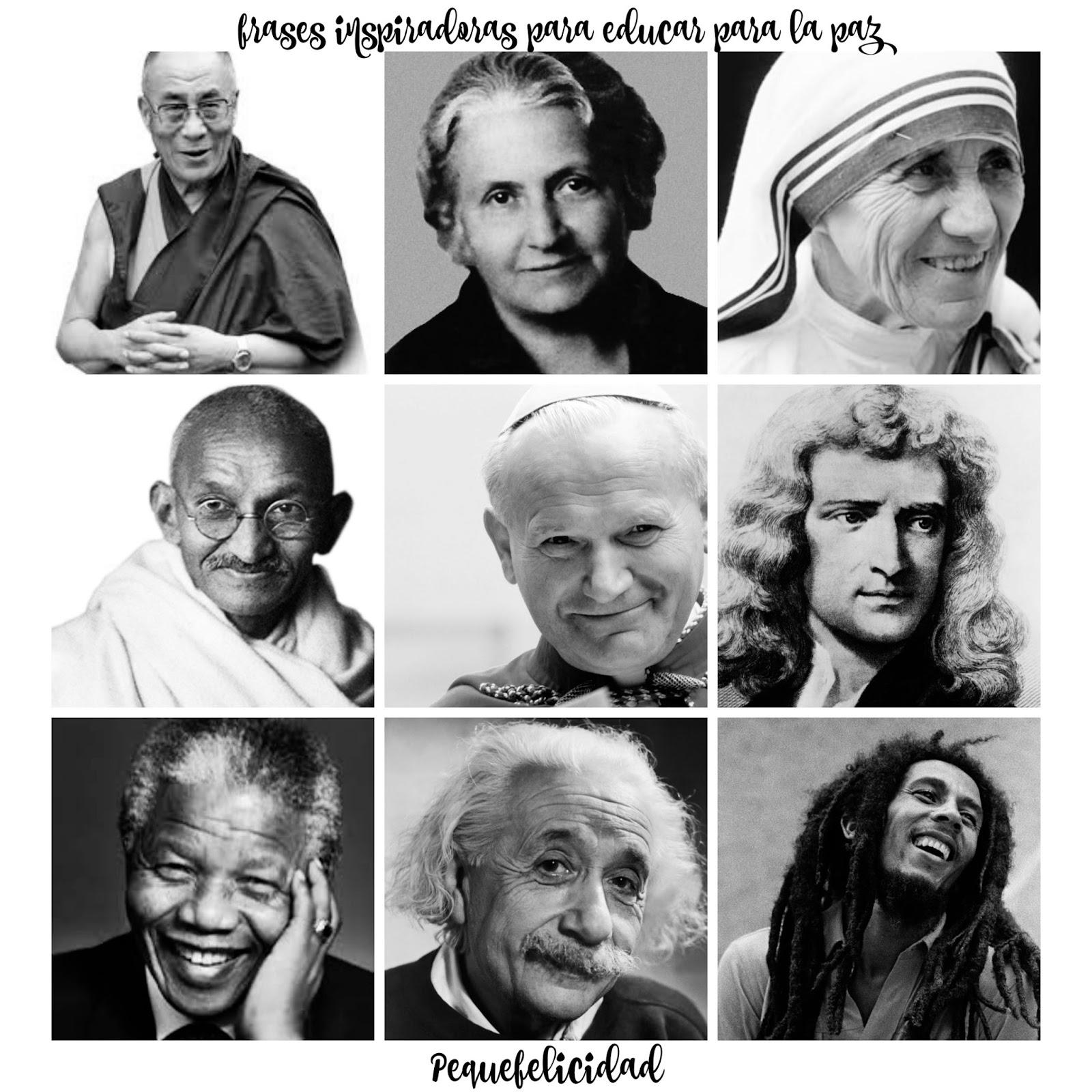 Pequefelicidad 30 Frases Inspiradoras Para Educar Para La Paz