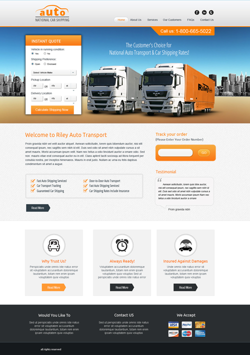 Auto Transportation Template Design