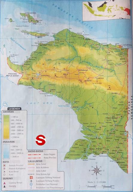 Gambar Peta Atlas Provinsi Papua