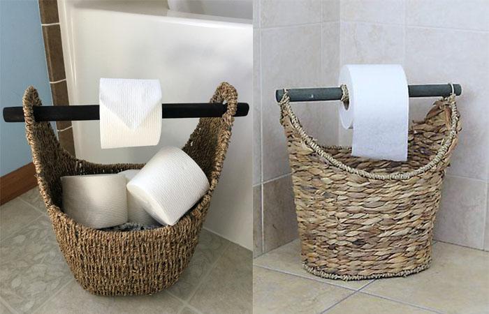 tuvalet kağıdı sepeti