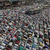 Bangladeshi Muslim devotees offer prayers