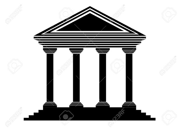Bank Icon On White Background  Vector Stock Vector
