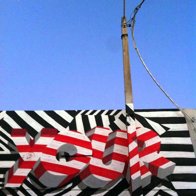 """Make Your Own Way"" New Street Art Piece by British Urban Artist INSA for Art Basel Miami 2013. 4"
