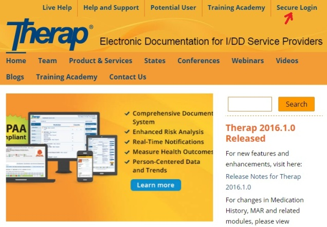 Therap Login - TherapServices.net