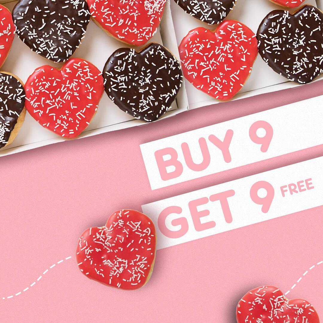 #DunkinDonut's - #Promo Beli 9 Gratis 9 Donuts Pakai Kupon LINE (s.d 19 Feb 2019)
