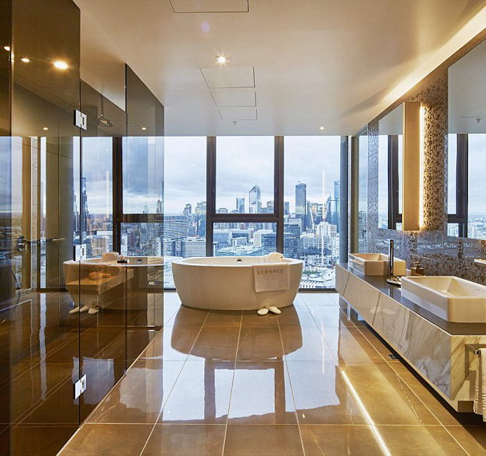 bathroom - Melbourne Penthouse styled by Megan Hess