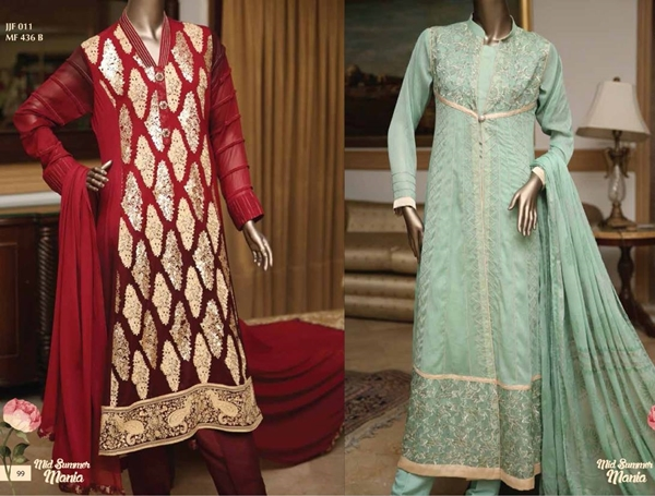Junaid Jamshed Embroidered Chiffon Collection 2015