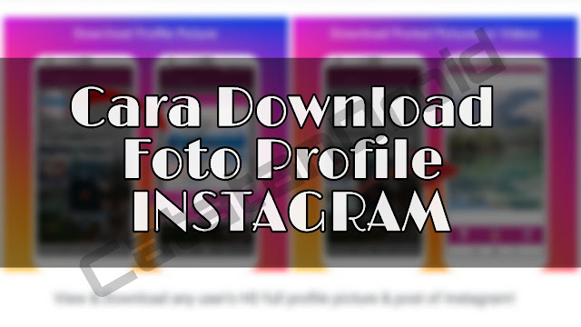 Cara Download Profile Picture Instagram Bisa Juga Download Foto & Video Post IG