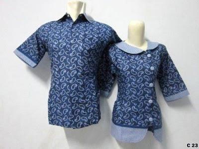 Model Baju Kemeja Batik Couple Terbaru Model Baju Kemeja Batik Couple