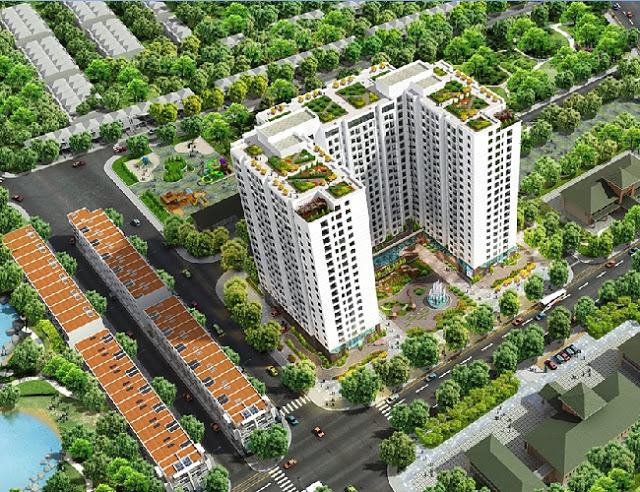 Tổ hợp khu Chung cư Thống Nhất Complex Nguyễn Tuântừ trên cao