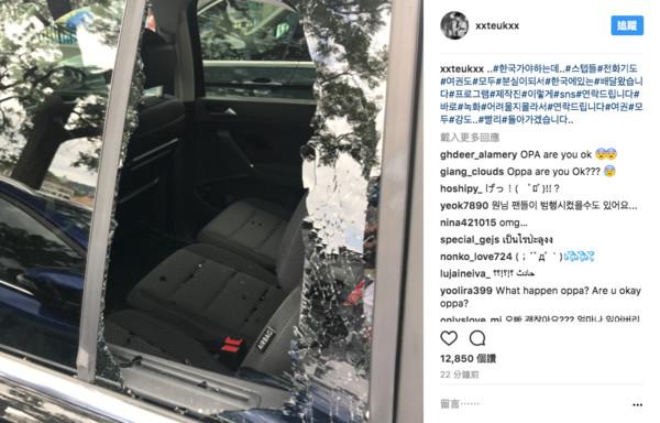 SJ利特國外遇劫「車窗遭擊破」發IG求救回不去南韓!