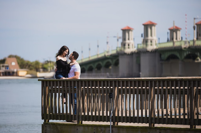 engagement session on the pier