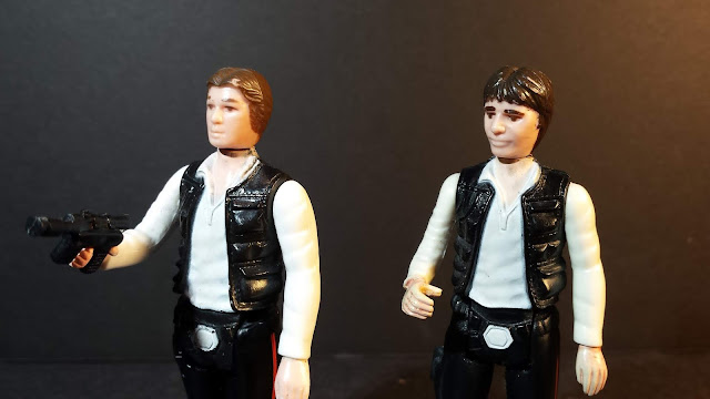 Kenner Han Solo.  Small head and normal head version