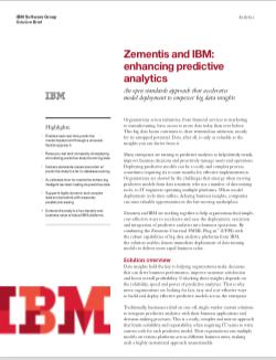zementis predictive analytics ibm and zementis release. Black Bedroom Furniture Sets. Home Design Ideas