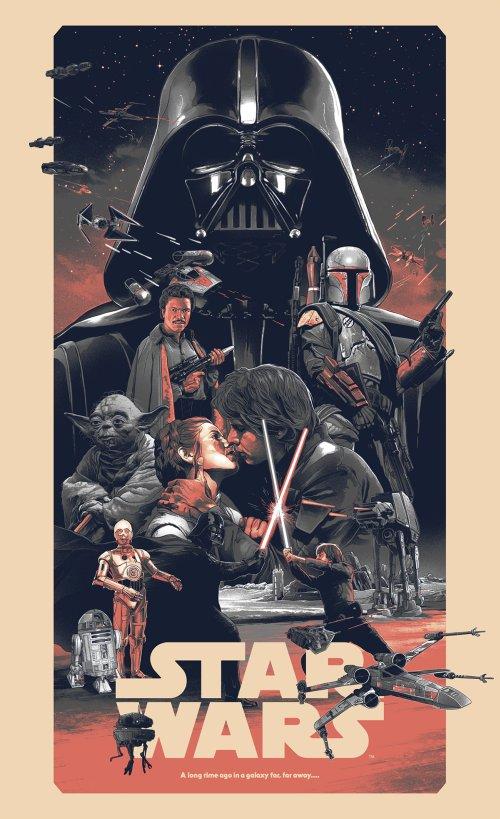 Grzegorz Domaradzki ilustrações cartazes pôsteres filmes arte cinema Star Wars (Guerra nas Estrelas)