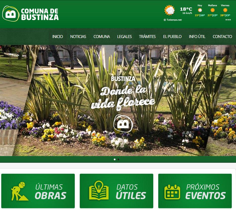 COMUNA DE BUSTINZA - CONOCÉ NUESTRA WEB