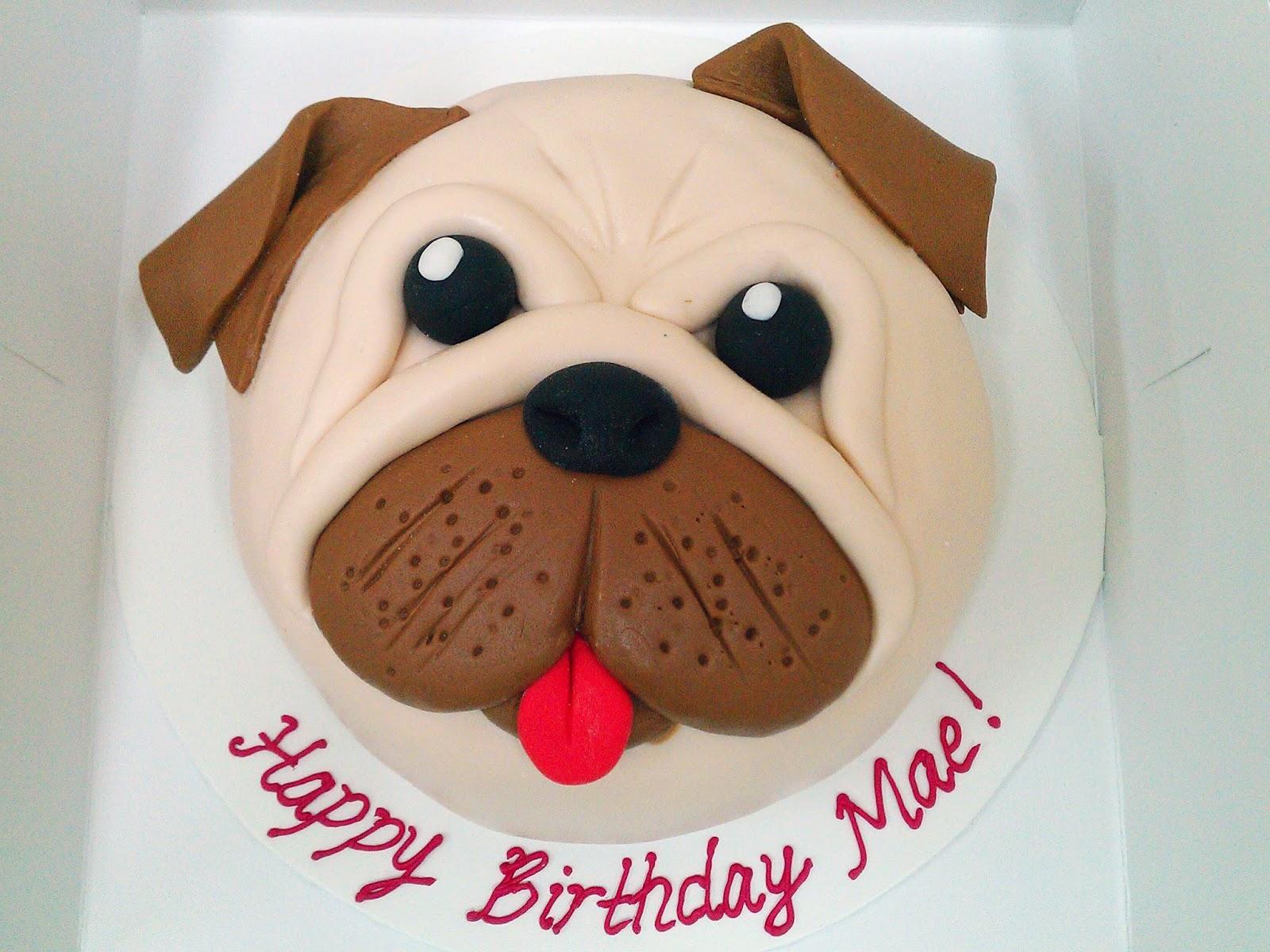 Pug Dog Face Cake