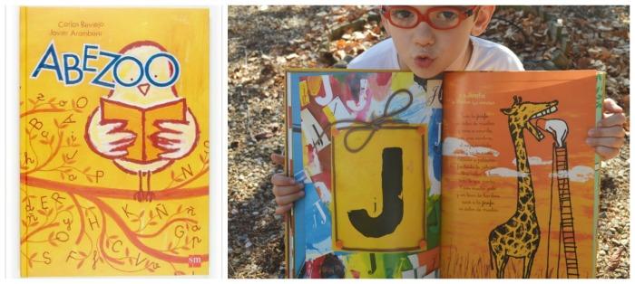 libro infantil abezzo, cuento sobre letras abecedario y poesía, ligada