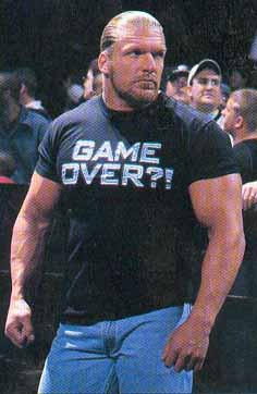 GAME OVER Triple H shirt.