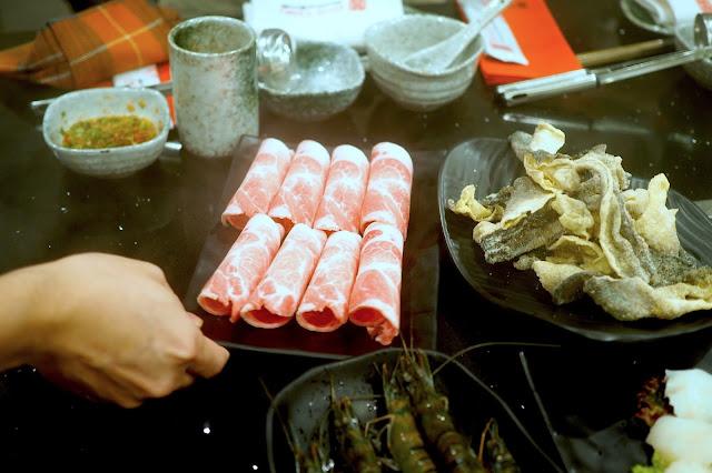 Fresh Kurobuta Pork (S$6 or S$12)  Hua Ting Restaurant Orchard