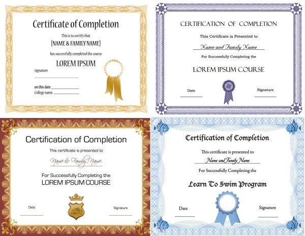 Vector beautiful certificate templates 2 Free vector