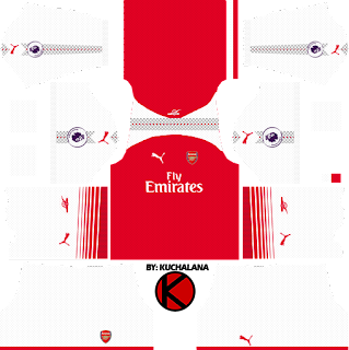 Arsenal Kits 2017/18 - Dream League Soccer