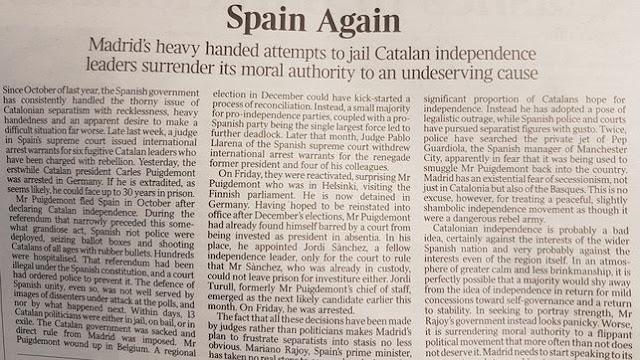 «España, otra vez», The Times ataca al Gobierno de Mariano Rajoy