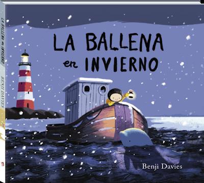 Portada del cuento ilustrado La ballena en invierno de Benji Davies