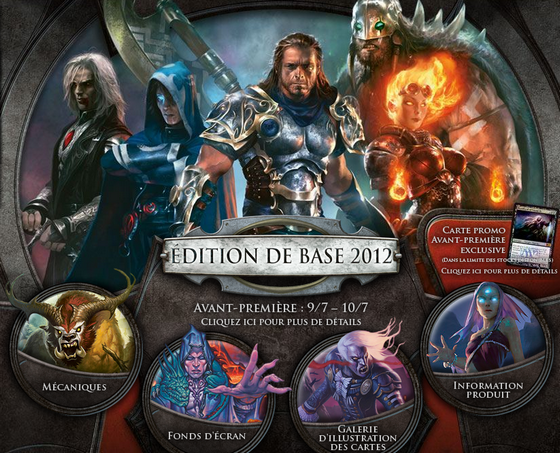 Magic 2012 Core Set, le site officiel