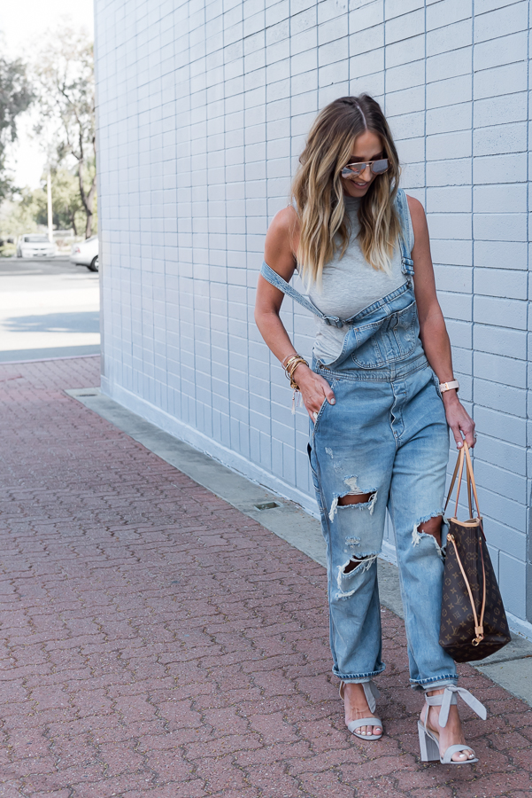 parlor girl heels with overalls