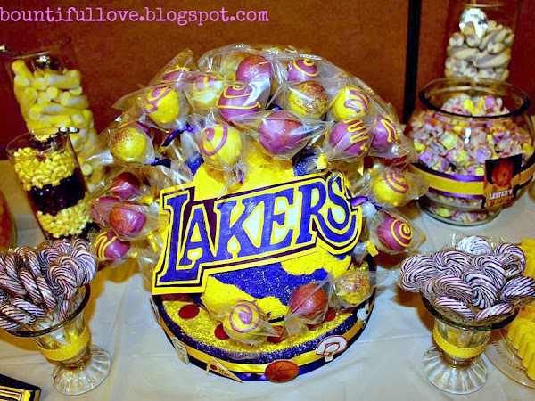 Cake Pops (LAKERS Inspired) and Cake Pop Stand