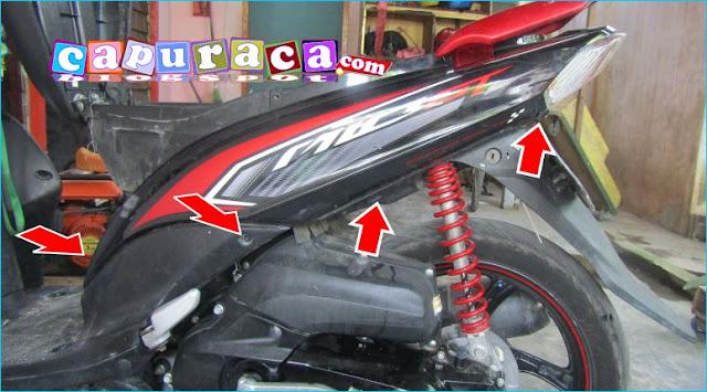 Cara Melepas Bodi Samping Yamaha MIO GT, cara membuka bodi mio,bodi samping mio gt,bodi samping mio, bodi motor mio,bodi yamaha mio