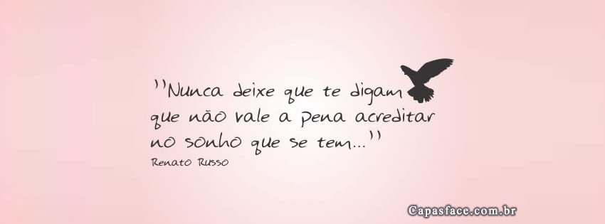 Fotos Para Capa Do Facebook Com Frases De Amor: Capas Para Facebook Renato Russo