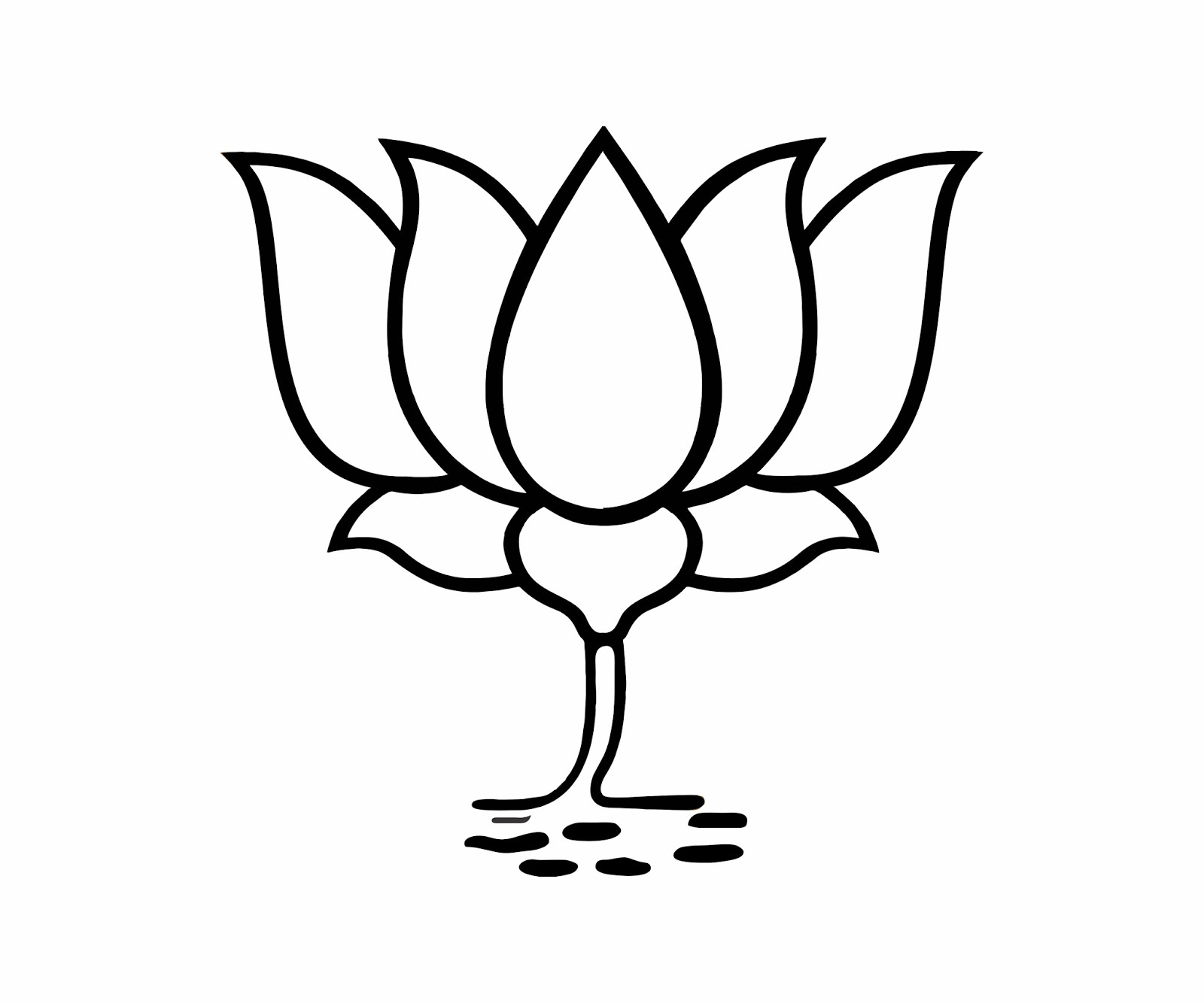 bjp kamal icon vector freebek