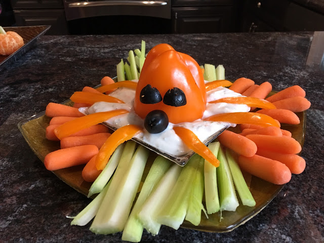 vegetables and dip for Halloween