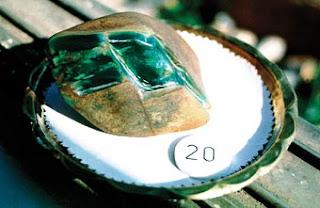 Rough jade stone at the emporium