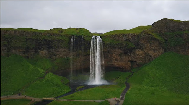 waterfall-and-hills-southern-iceland