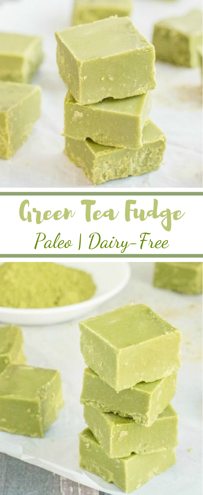 Green Tea Fudge #Paleo #Matcha