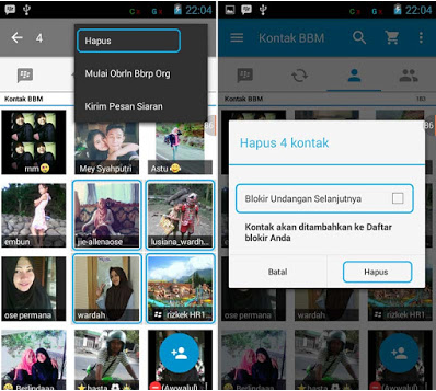 How to Delete And Block Android BBM Contacts Easily and Quickly